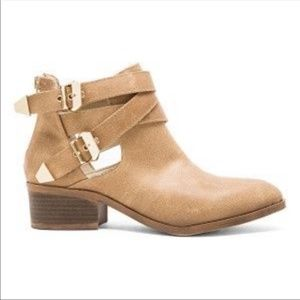 Seychelles Camel Tan Leather Distressed Booties